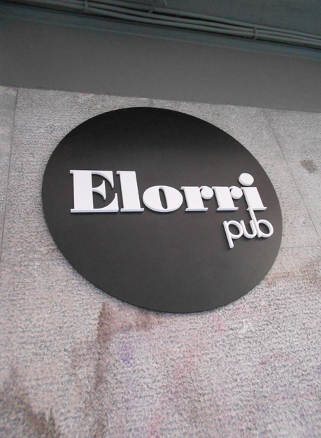 Bar Elorri - Logotipo en Relieve en PVC